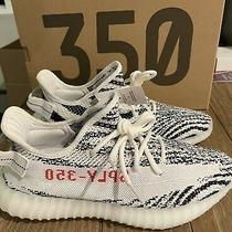 New Deadstock Adidas Yeezy 350 V2 Zebra White Red Black Size 9 100% Authentic Photo
