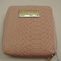 new/defect.bcbg Paris Blush Color Pvc Zip-Around Wallet Photo