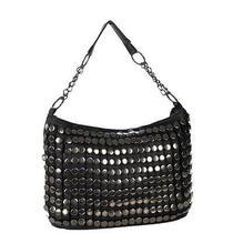 New Design Casual Women's Rivet Studded Tote Hobo Bag Shoulder Bag Handbag Photo