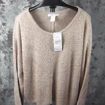 New Design History Sweater Large Blush Metallic Dolman Sleeve Photo