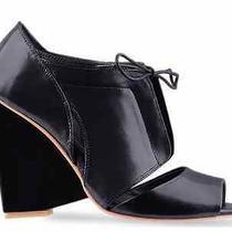 New Designer Jeffrey Campbell Cashy Women Open Toe Booties Nib 5 Black / Navy Photo