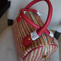 New Deux Lux  Large Luca Striped Duffel Satchel Handbag Purse Anthropologie Photo