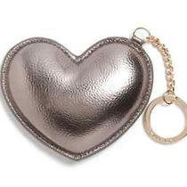 New Deux Lux Lulu Heart Key Ring Fob Gunmetal Silver Grey Photo