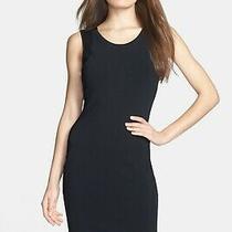 New Diane Von Furstenberg 365 Black 'Moscow' Bodycon Jersey Dress Large Nwt Photo