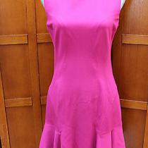 New Diane Von Furstenberg Dvf Jaelyn Pink Sleeveless Fluted Skirt Dress 10 M L Photo