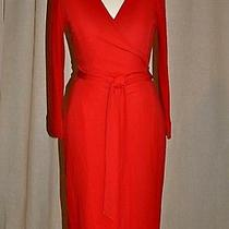 New Diane Von Furstenberg New Julian Two Wrap Jercey Dress in Red Bright Color 6 Photo