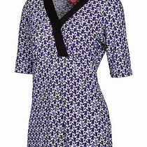 New Dickies 17188 Stretch Scrub Top Mtl Purple Tulips Medium Free Ship Scrubs  Photo