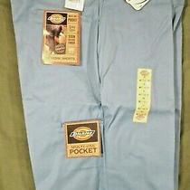 New Dickies Big Men's Multi Pocket Work Shorts With Scotch Grad Sz 44 Light Blue Photo