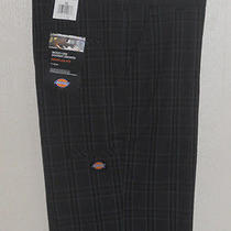 New Dickies Black Plaid Shorts Multi Use Cell Phone Pocket Nwt Mens 38 Photo