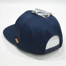 New Dickies Core Navy Snapback Cap Hat Travel Camping Basic Work Cap Simple Photo