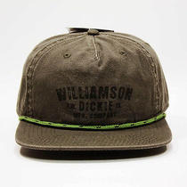 New Dickies Vintage Style Hat Adjustable Olive Green Baseball Cap Flat Bill Photo