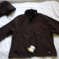 New Dickies Women's Chocolate Brown Softshell Hooded Jacket-Plus Size 2x (20-22) Photo