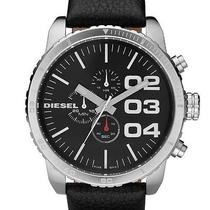 New Diesel Dz4208 Black Calf Skin Analog Quartz Men's Watch Photo