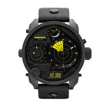 New Diesel Dz7296 Men's Mr. Daddy Rdr Campaign Radar Black Leather Watch Photo