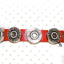 New -Diesel- Men's Red Leather Bracelet 100% Genuine  Photo