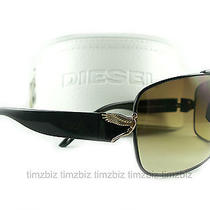 New Diesel Sunglasses 55dsl Angelika/s Black Bksxr Authentic Photo