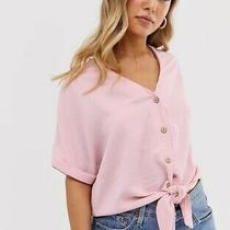 New Directions Relaxed Fit Blush Pink Top Shirt Sz Xl v-Neck & Short-Sleeve Photo