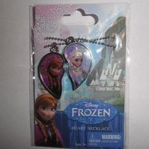 New Disney Frozen 2 Piece Sisters Heart Necklace Elsa & Anna Photo