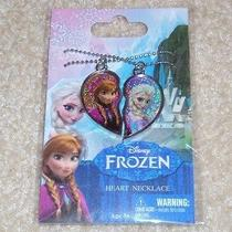 New Disney Frozen Elsa Anna Sisters Heart Friends Necklaces Jewelry-Limited Edit Photo