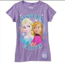 New Disney Frozen I Talk Sisters Forever Lilac Tshirt Medium 7/8 Sings Let It Go Photo