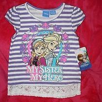 New Disney Frozen Shirt 4t Elsa and Ana