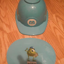 New Disney Sulley Sully Monsters Inc Cereal Bowl Hard Hat W/plate Kelloggs Promo Photo