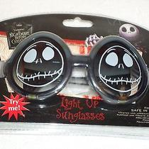 New Disney Tim Burton's the Nightmare Before Christmas Light Up Sunglasses Photo