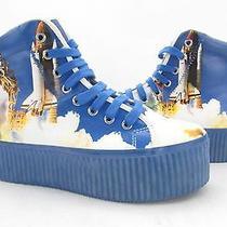 New/display Women's Jeffery Campbell Hiya High Top Shuttle Sneaker Size 8 M  Photo