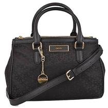 New Dkny Donna Karan Black Heritage Logo Convertible Purse Handbag Satchel Photo