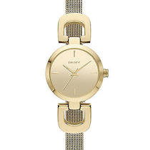 New Dkny Ny2101 Women's Gold Tone Stainless Steel Quartz Watch Photo