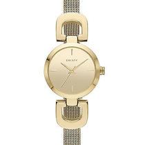 New Dkny Ny2101 Women's Gold Tone Stainless Steel Quartz Watch Photo