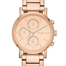 New Dkny Ny8862 Women's Rose Gold Tone Stainless Steel Bracelet Quartz Watch Photo