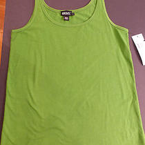 New Dkny Tank Top Solid Green Stretch Sale 75 Layering  Photo