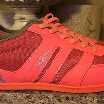 New Dkny Womans Andie Casual Fashion Sneakers Shoes Sz 9 Neon Orange Photo