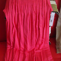 New Dkny Womans Peony Red Chemise Top Nightie With Side Pockets Very Soft Photo