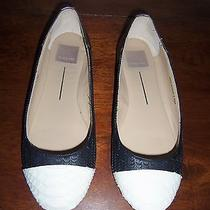 New Dolce Vita Black/ivory/metallic Leather Flats Size 7.5m Photo