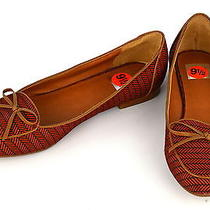New Dolce Vita Dv Red Canvas Fabric Flat Shoes Ballet Flats W/ Bow  Sz 8.5 Photo