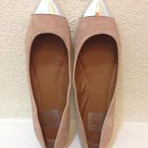 New Dolce Vita Stylish Blush Suede Flats Metallic Toe Shoes Size 7 Photo