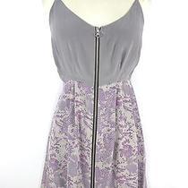 New Dolce Vita Women Gray & Lavender Print Zipper Boho Chic Mini Dress S   175 Photo