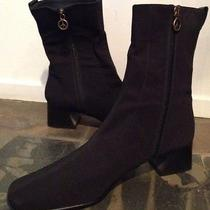 New Donald Pliner Black Microfiber Ankle Boots 11narrow Photo