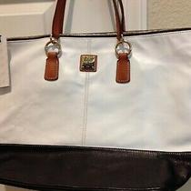 New Dooney & Bourke Lambskin White/black O-Ring Shopper Photo