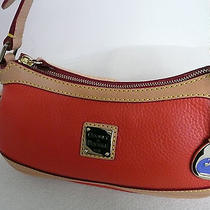 New Dooney & Bourke Mini Top Zip Orange Small Shoulder Tote Purse W/dust Bag Photo