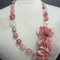 New Dressbarn Flower Detail Pink Blush Necklace Photo