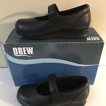 New Drew Bloom Ii Black Leather Size 6.5 Med Extra Depth Comfort Casual Shoes Photo