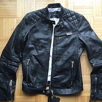 New Dsquared Leather Quilted  Biker Leather Jacket  Photo
