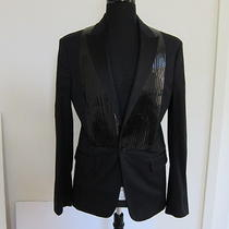 New Dsquared2 Black Tuxedo Blazer Eu 52 R-684421 Photo