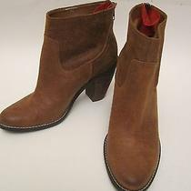 New Dv by Dolce Vita Distressed Brown Suede Ankle Boots Booties Us 8.5 Photo