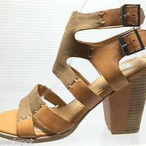 New Dv by Dolce Vita Womens Size 8 Brown  Leather Wedge Sandals Shoes Photo