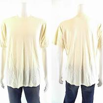 New Eddie Bauer Mens Size S Crew Neck Basic T-Shirt Tee Light Yellow Solid Deals Photo