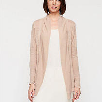 New Eileen Fisher Dune Linen Crepe Knit Shawl Collar Uneven Hem Cardigan  Xl  Photo